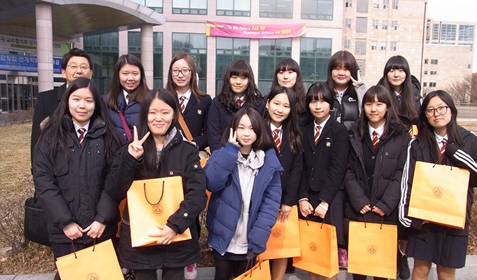 포천고등학교 신사동 동아리 독도기부금 전달식(2014.2.18.)-7